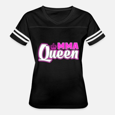 Mma Funny MMA Queen Fighting Mixed Martial Arts Training - Women's Vintage Sport T-Shirt