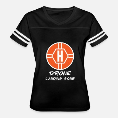 Drone Helicopter Drone Landing Zone Helicopter Pad - Women's Vintage Sport T-Shirt