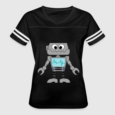 Toddler Robot robot toy mechanical awesome machine gift idea - Women's Vintage Sport T-Shirt