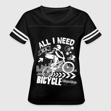Girl Sexy Cycling All I Need Is A Bicycle T Shirt, Biker T Shirt - Women's Vintage Sport T-Shirt