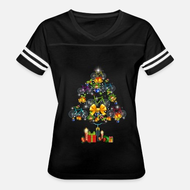 Santa Bike Bicycle Christmas Tree - Women's Vintage Sport T-Shirt