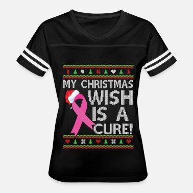 Christmas Breast Cancer Breast Cancer Awareness Ugly Christmas Sweater - Women's Vintage Sport T-Shirt