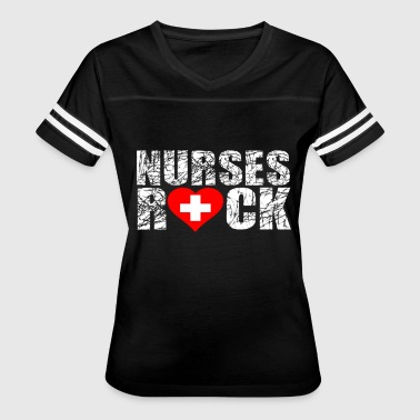 Hockey Rocks NURSES ROCK - Women's Vintage Sport T-Shirt