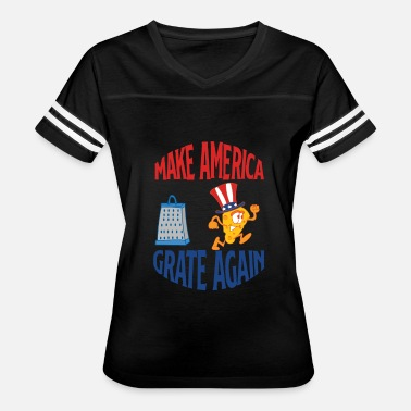 Trump Clown PUN / ANTI-TRUMP: Make America Grate Again - Women's Vintage Sport T-Shirt