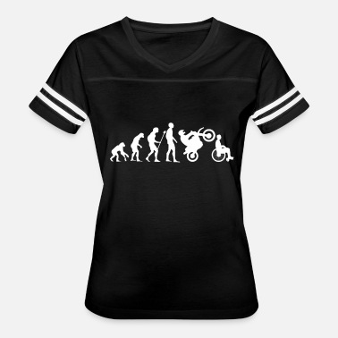 Dakar Rally Evolution Motorcycle Moped Cross Wheelchair Gift - Women's Vintage Sport T-Shirt