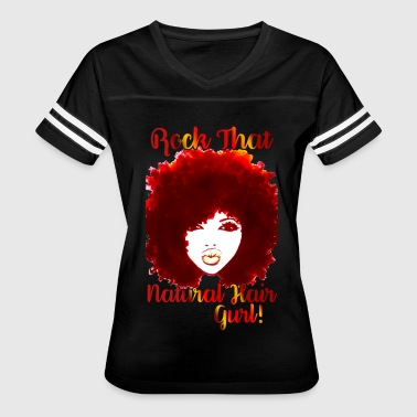 Curly Hair Rock That Natural Hair Gurl ! - Women's Vintage Sport T-Shirt