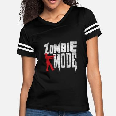 e8742df2b2 Zombie Mode Halloween T-Shirt Funny Dead People Sh - Women's