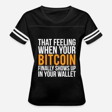 Funny Bitcoin Bitcoin Wallet Funny Bitcoins T-shirt - Women's Vintage Sport T-Shirt