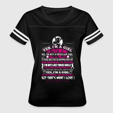 Softball - I'm a girl and I play softball - Women's Vintage Sport T-Shirt