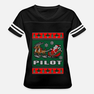 Pilot Ugly Christmas Pilot Ugly Christmas Sweater - Women's Vintage Sport T-Shirt