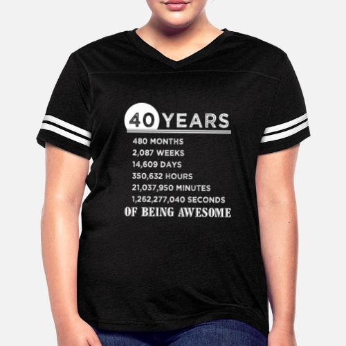 40th Birthday Gifts 40 Years Old Of Being Awesome Womens Vintage