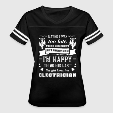 This Girl Loves Her Electrician Shirt - Women's Vintage Sport T-Shirt