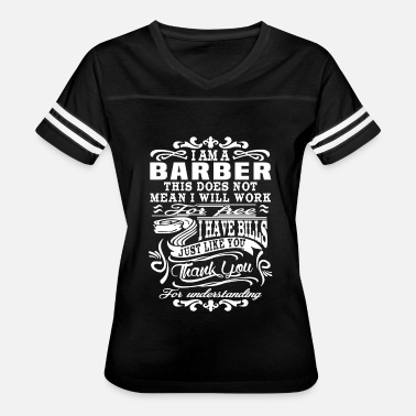 Hanna Barbera Barber - This does not mean I will work for free - Women's Vintage Sport T-Shirt