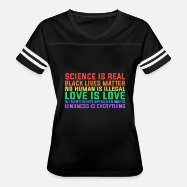 Anti Science Anti Trump Science is real black lives matter - Women's Vintage Sport T-Shirt
