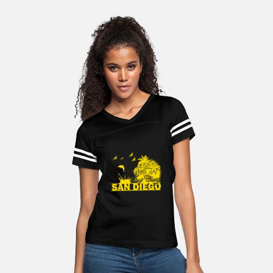 Diego T-Shirts - Stay Classy San Diego - Women's Vintage Sport T-Shirt black/white