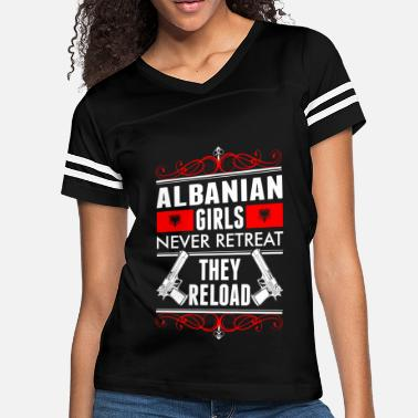 Reload Albanian Girls Never Retreat They Reload - Women's Vintage Sport T-Shirt