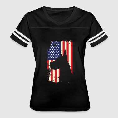German Shepherd Flag German shepherd american flag shirt - Women's Vintage Sport T-Shirt