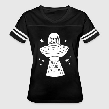 Beam Me Up Cat - Women's Vintage Sport T-Shirt