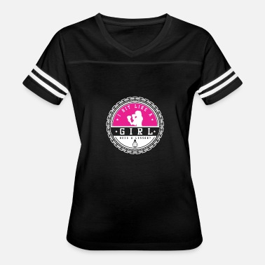Hits Like Hit Like A Girl-Boxing - Women's Vintage Sport T-Shirt
