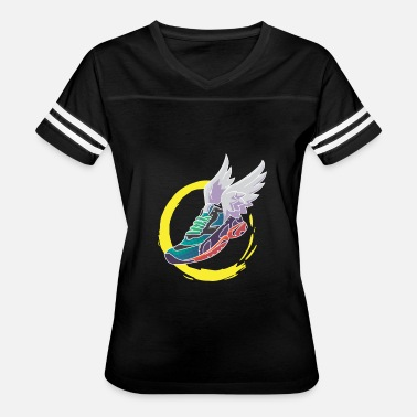 Running Shoe Wings Track and Field Winged Sneaker Running Shoe Gift - Women's Vintage Sport T-Shirt
