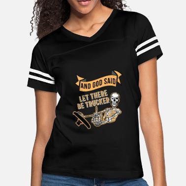 cf66e3c78 funny truck driver shirts Present Gift Trucker - Women's Vintage Sport T