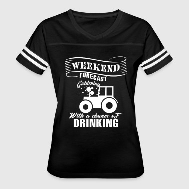 Crazy Plant Man Weekend Forecast Gardening T Shirt - Women's Vintage Sport T-Shirt