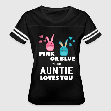 Baby Shower Quotes Pink Or Blue Auntie Loves You Funny Baby Shower - Women's Vintage Sport T-Shirt