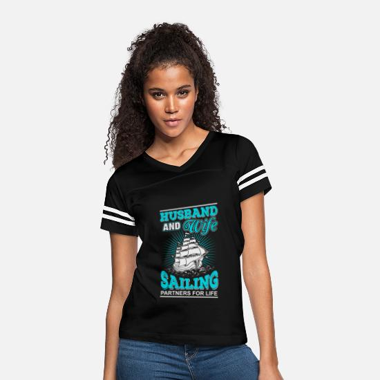 Wife T-Shirts - Sailing partners - Women's Vintage Sport T-Shirt black/white