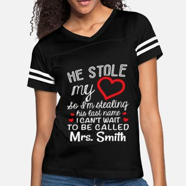 Last Name he stole my heart so i m stealing his last name i - Women's Vintage Sport T-Shirt