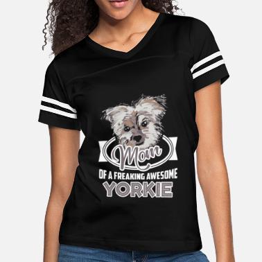 Yorkie Awesome Yorkie Mom Shirts - Women's Vintage Sport ...