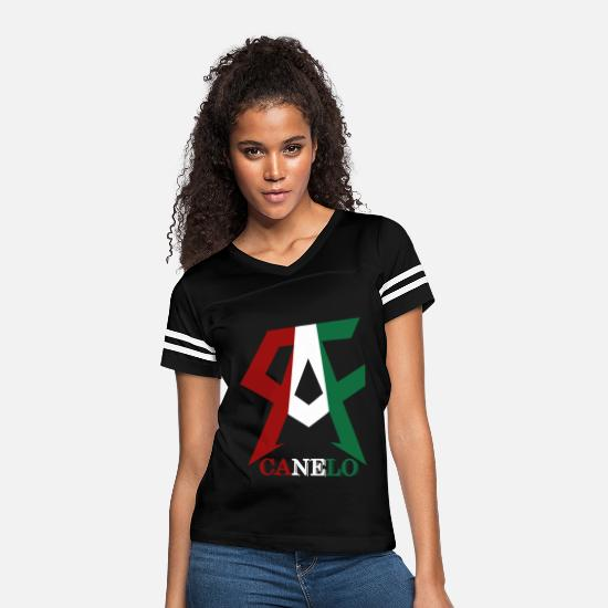 Mexican T-Shirts - TEAM CANELO ALVAREZ BOXING MEXICO - Women's Vintage Sport T-Shirt black/white