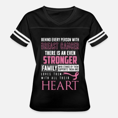 Fuck Cancer Quotes Behind every person with breast cancer there is an - Women's Vintage Sport T-Shirt