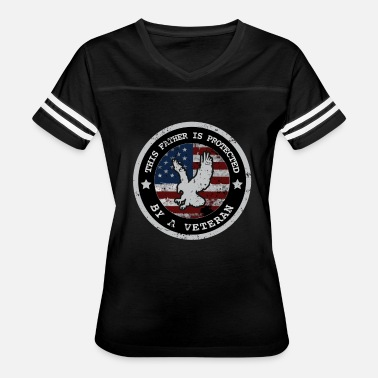 Dad Protect Father Is Protected By A Veteran T Shirts For Men & Dad - Women's Vintage Sport T-Shirt