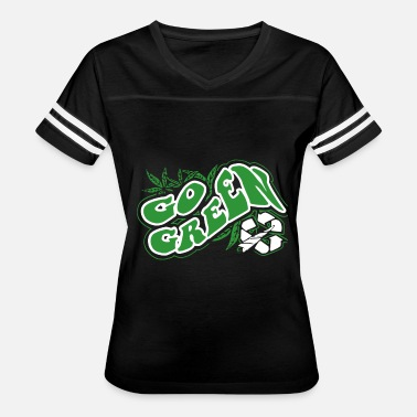 Mickey Hands Supreme Go Green Funny Weed Bud Pot Marijuana Black Weed T - Women's Vintage Sport T-Shirt