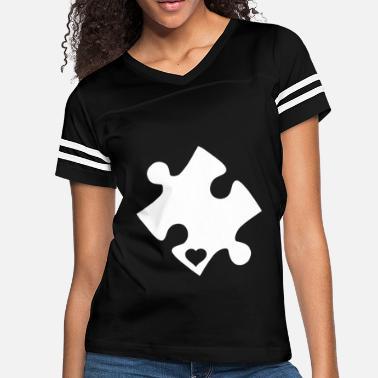 3a551b6b Toddler Autism Autism Awareness Heart Cut Puzzle Support Autism T -  Women's. Women's Vintage Sport T-Shirt