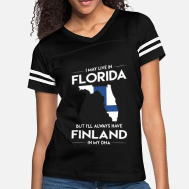 I-love-florida I may live in florida but I will aways have finlan - Women's Vintage Sport T-Shirt