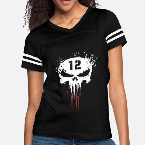 7172d7d11575f Tom Bra dy TB12 Punisher GOAT New England Patriot Women s Vintage ...