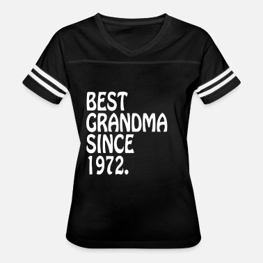 Best Clothing Best Grandma Clothes 1972 Best Grandma Outfit - Women's Vintage Sport T-Shirt