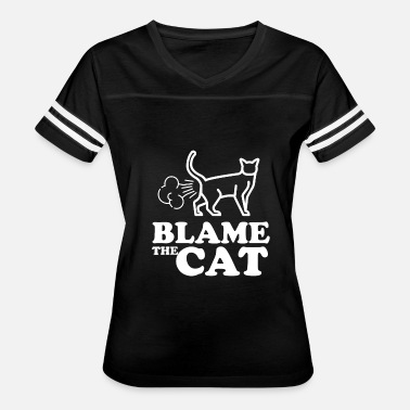 Fart Cat Blame the cat - fart king - Women's Vintage Sport T-Shirt
