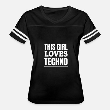 Rave Girl This Girl Loves Techno Raves Raver Raving - Women's Vintage Sport T-Shirt