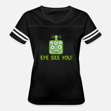 Cartoon Alien Cartoon Alien Eye - Women's Vintage Sport T-Shirt