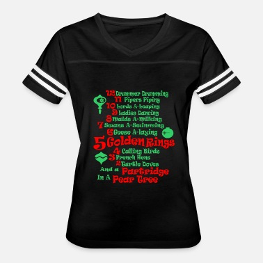 Pear The 12 Days Of Christmas And Partridge In Pear Tre - Women's Vintage Sport T-Shirt