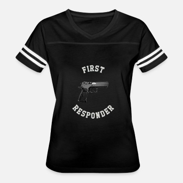 Concealed Carry FIRST RESPONDER - WHITE TEXT VERSION - Women's Vintage Sport T-Shirt