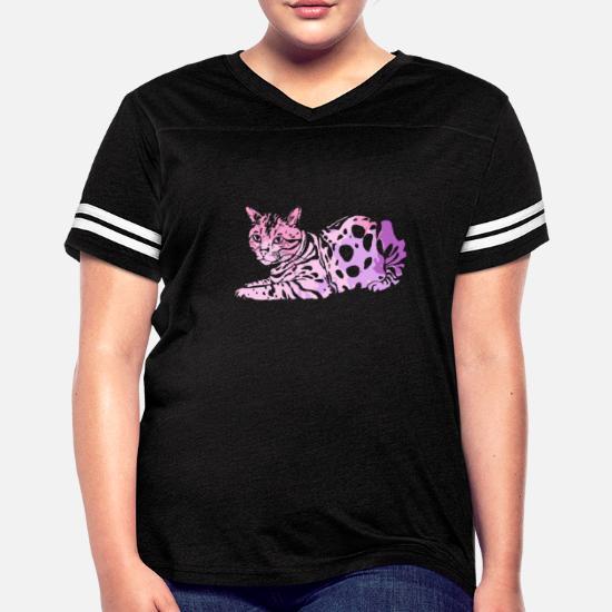 b5f60046 Bengal Cat Colorful Shirt Women's Vintage Sport T-Shirt | Spreadshirt