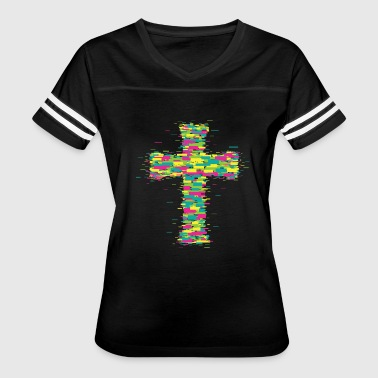 Neon Techno Neon cross - Women's Vintage Sport T-Shirt
