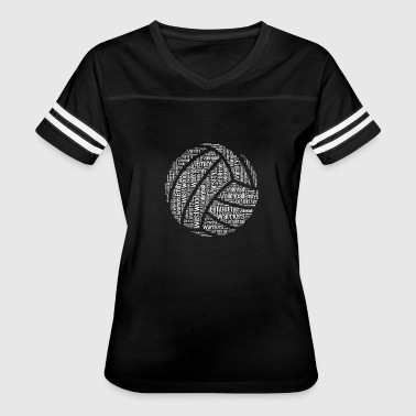Volleyball Player Volleyball words tshirt - Women's Vintage Sport T-Shirt