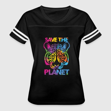 Cat Planets Save the planet - Women's Vintage Sport T-Shirt