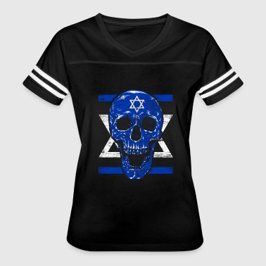 Jewish Star Of David Israel Skull Jerusalem Jewish Star Of David Jew - Women's Vintage Sport T-Shirt