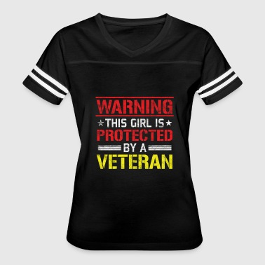 Protected By Veteran Veterans Day - This Girl is Protected by a Veteran - Women's Vintage Sport T-Shirt