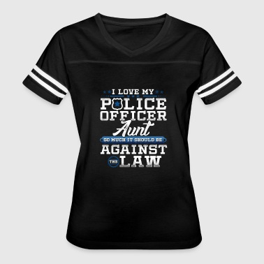 Aunt Apparel Love Police Aunt Law Enforcement Apparel - Women's Vintage Sport T-Shirt